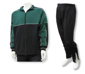 Roma soccer warmup set in forest/black by Code Four Athletics