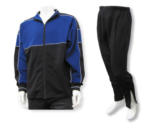 Roma soccer warmup set in navy/black by Code Four Athletics