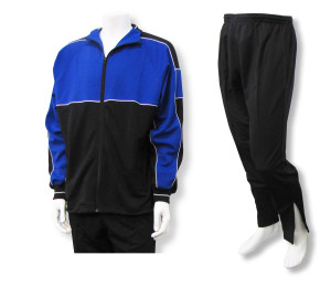 Roma soccer warmup set in royal/black by Code Four Athletics
