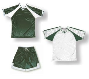 Spitfire soccer uniform kit in forest/white by Code Four Athletics