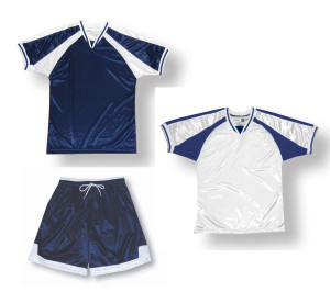 Spitfire soccer uniform kit in navy/white by Code Four Athletics