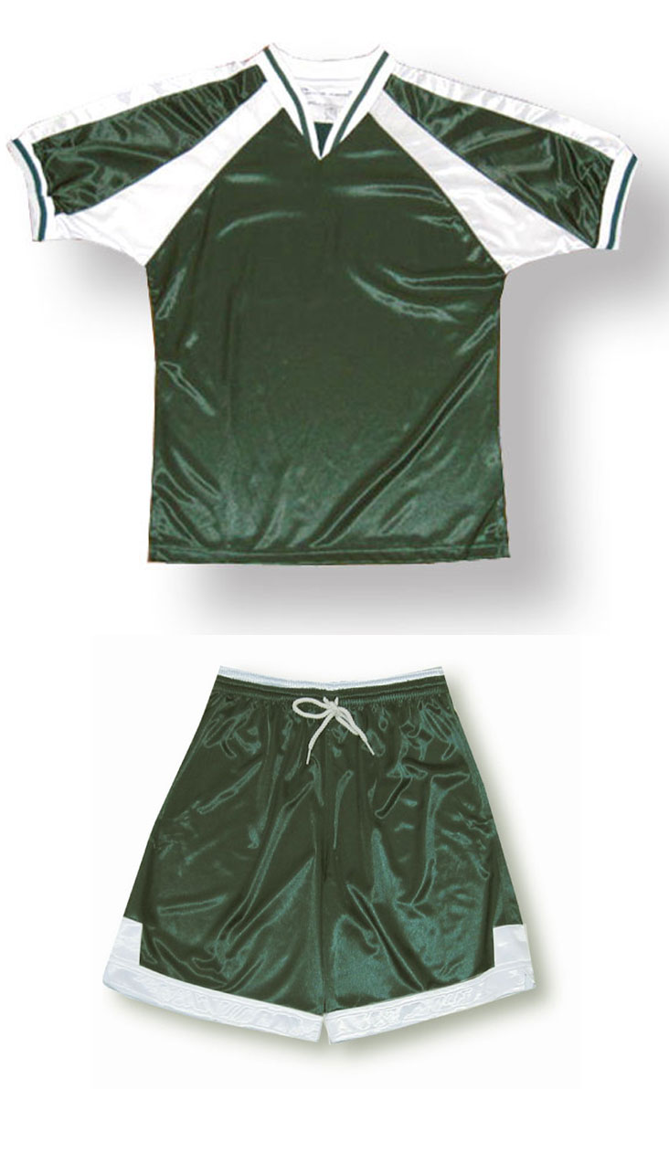Spitfire soccer kit in forest/white by Code Four Athletics