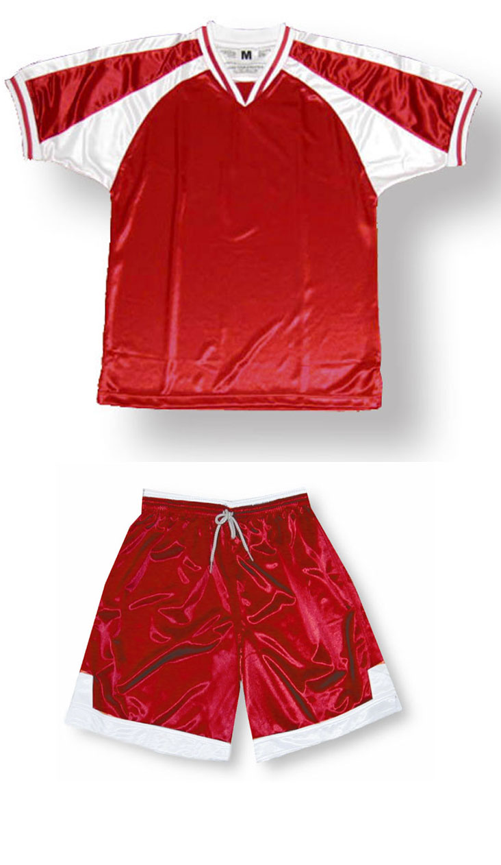 Spitfire soccer uniform kit in red/white by Code Four Athletics