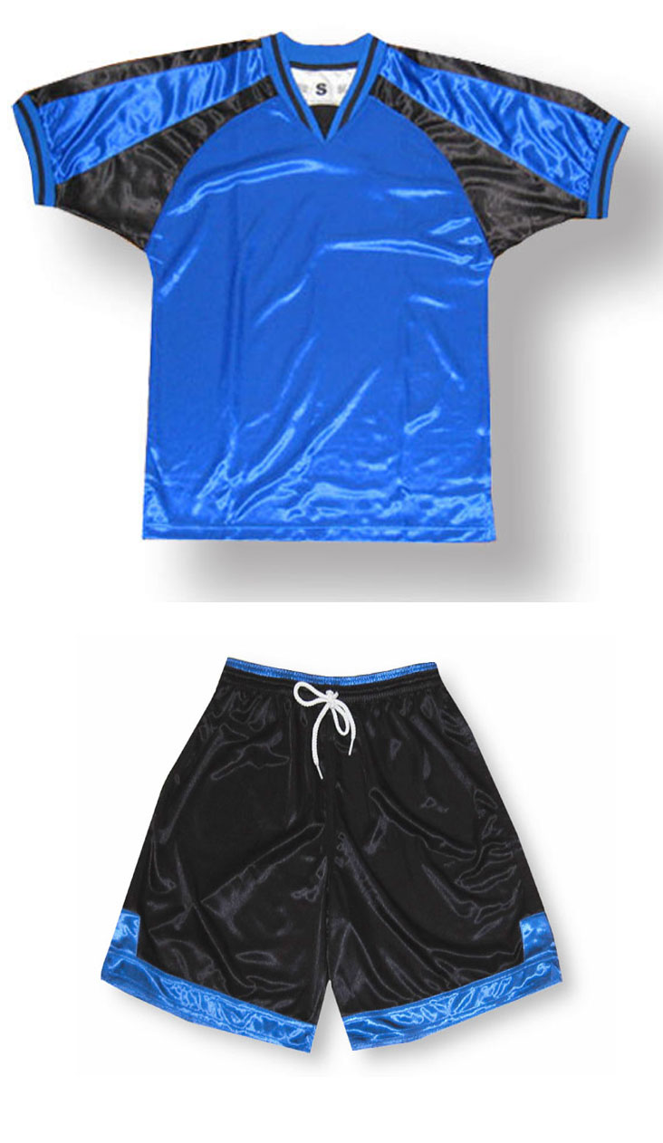 Spitfire soccer uniform kit in royal/black by Code Four Athletics