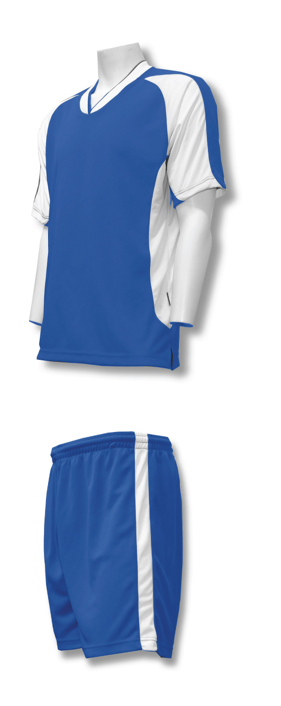 Sweeper soccer uniform kit in royal /white by Code Four Athletics