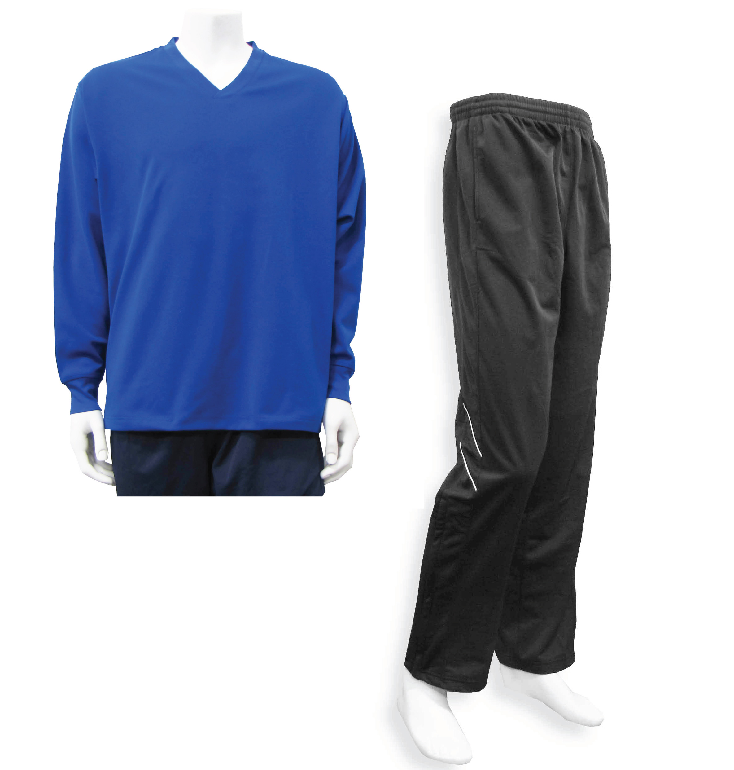 Men's Casual Track Suit by Code Four Athletics in royal/black