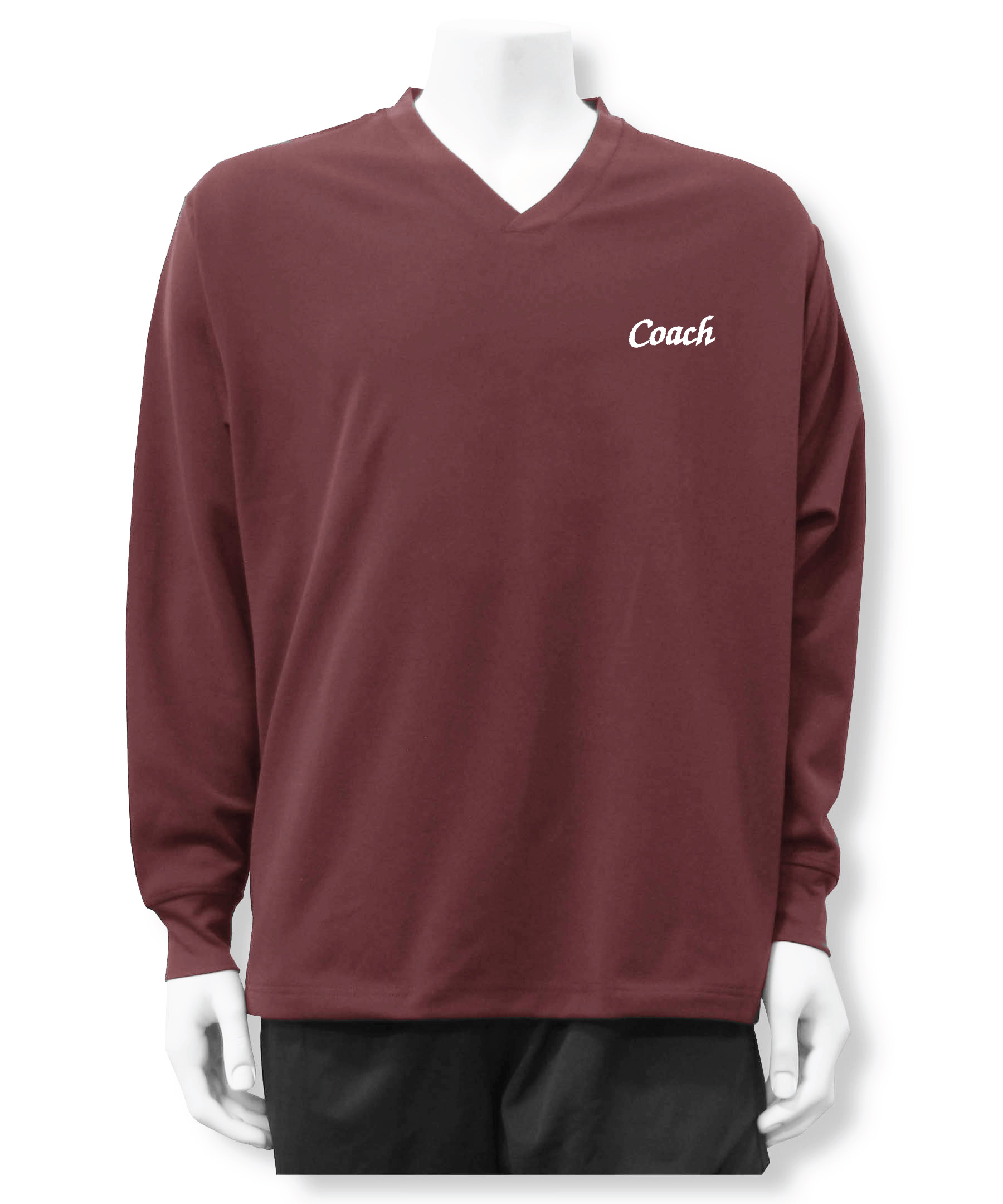 Coach pullover shirt jacket in maroon by Code Four Athletics