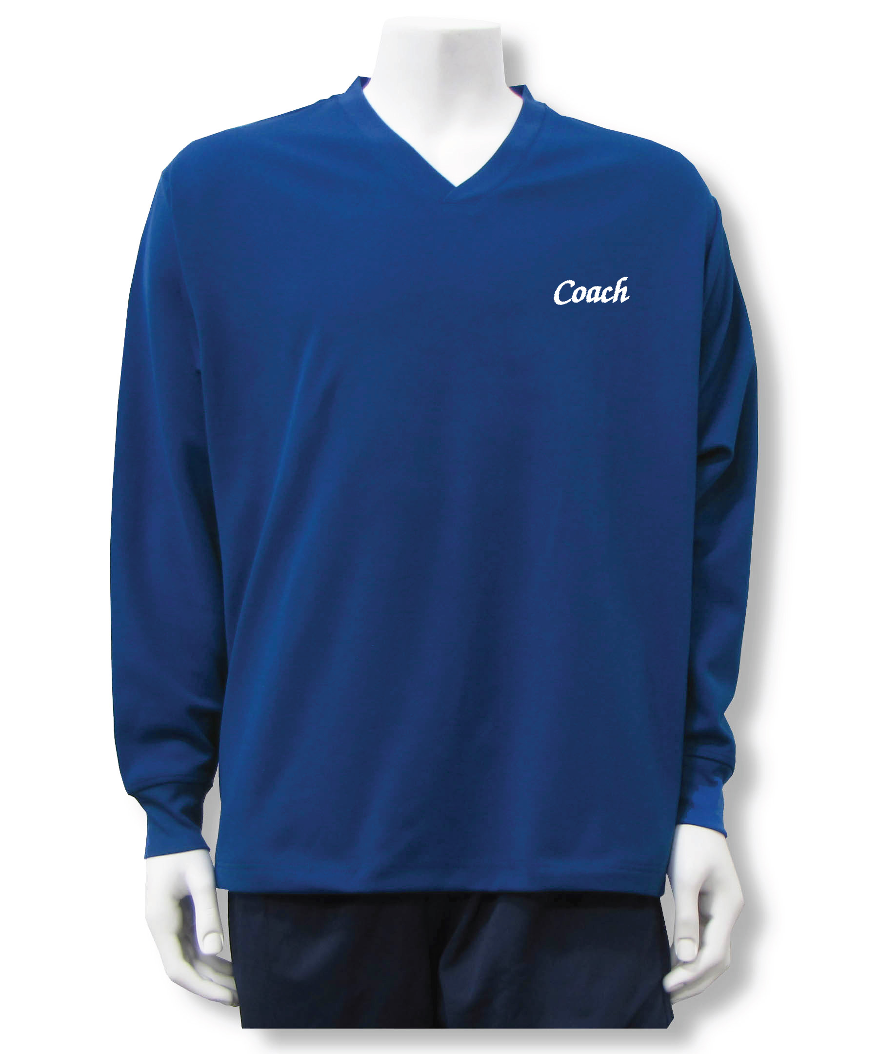 Coach pullover in navy by Code Four Athletics