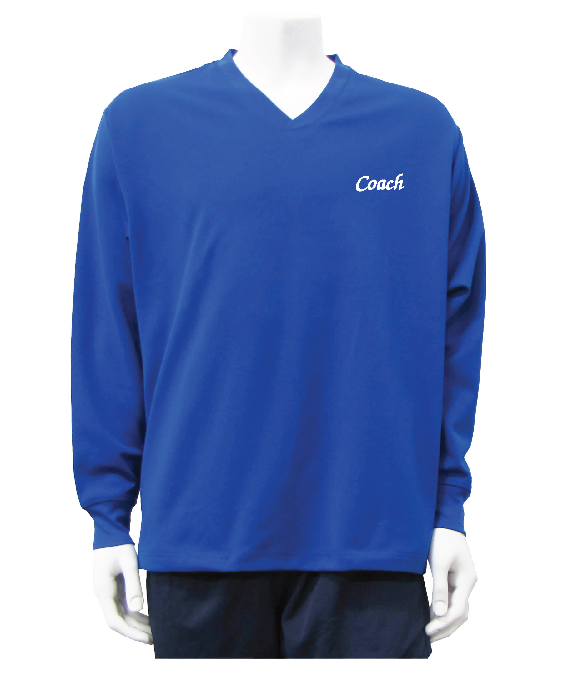 Coach pullover shirt jacket in royal by Code Four Athletics