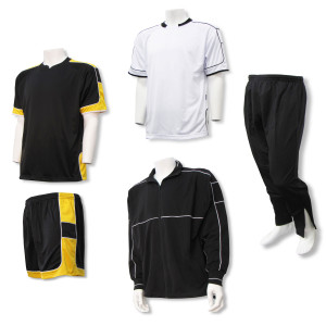 Nova Soccer Team package in black / gold by Code Four Athletics