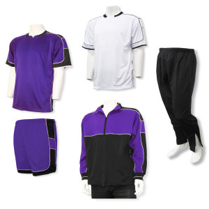 Nova soccer team package in purple by Code Four Athletics