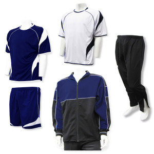 Velocity soccer team package in navy by Code Four Athletics