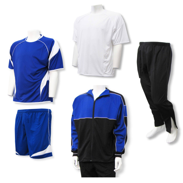 Velocity soccer team package in royal by Code Four Athletics