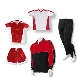 Winchester Soccer Team Package in red by Code Four Athletics