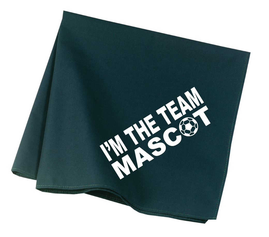 Team Mascot soccer dog bandana in hunter green by Code Four Athletics