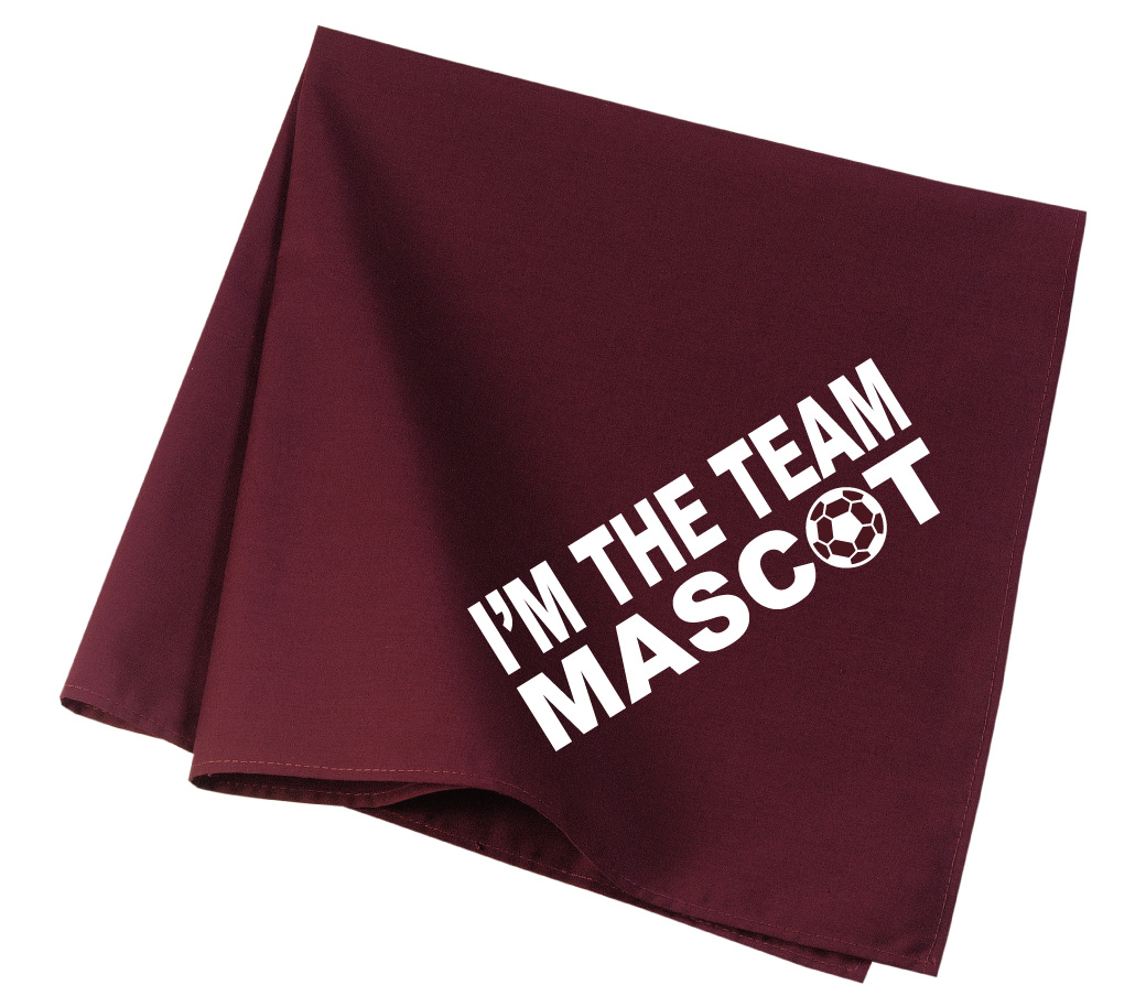 Team Mascot soccer dog bandana in marooon by Code Four Atheltics