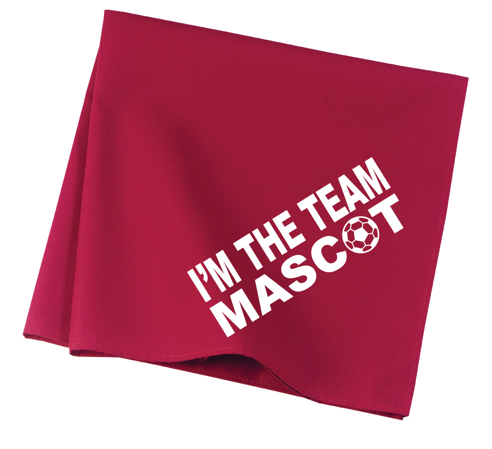 Team Mascot soccer dog bandana in red by Code Four Athletics