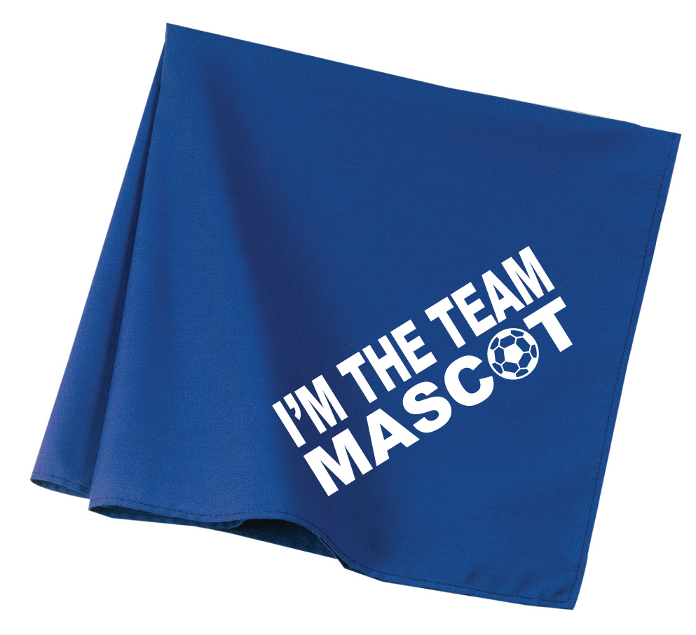 Team Mascot soccer dog bandana in royal by Code Four Athletics