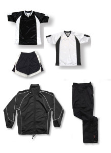 Imperial soccer team package in black by Code Four Athletics