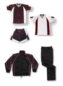 Imperial Soccer Team Package in maroon / white by Code Four Athletics