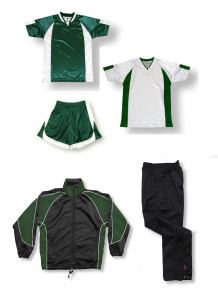 Soccer team package in forest by Code Four Athletics