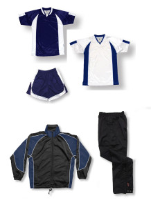 Imperial soccer team package in navy by Code Four Athletics