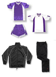 Imperial Soccer Team Package in purple by Code Four Athletics