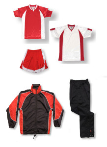 Imperial soccer team package in red by Code Four Athletics