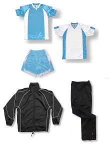 Imperial Soccer Team package in sky blue by Code Four Athletics
