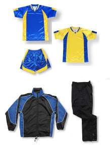 Imperial soccer team package in royal / gold by Code Four Athletics