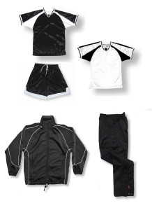 Spitfire soccer team package in black by Code Four Athletics