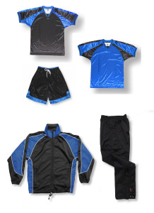 Spitfire soccer team package in black / royal by Code Four Athletics