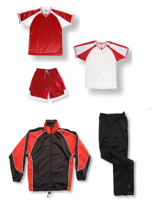 Spitfire soccer team package in red by Code Four Athletics