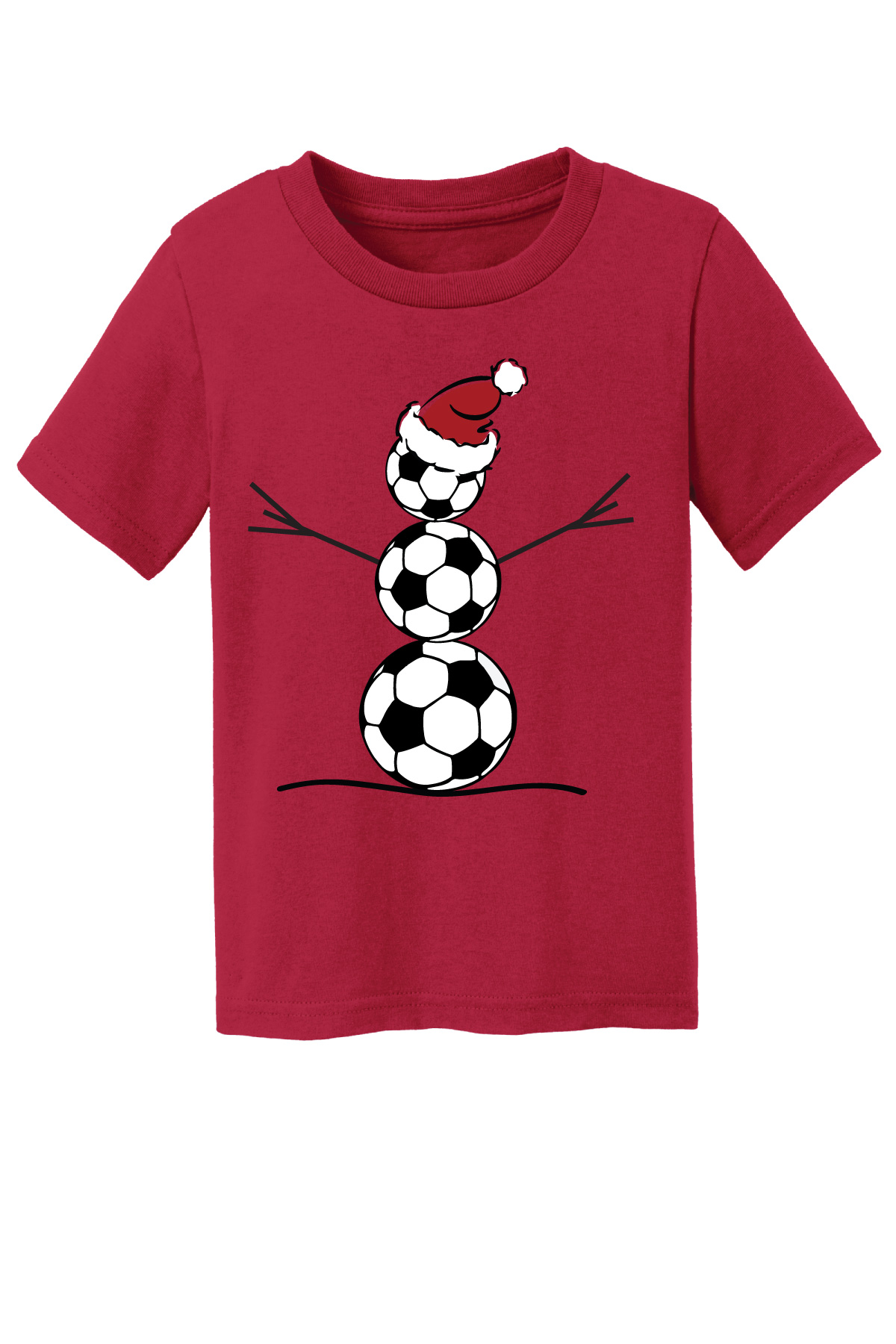 Toddler Snowman Tshirt for soccer by Code Four Athletics