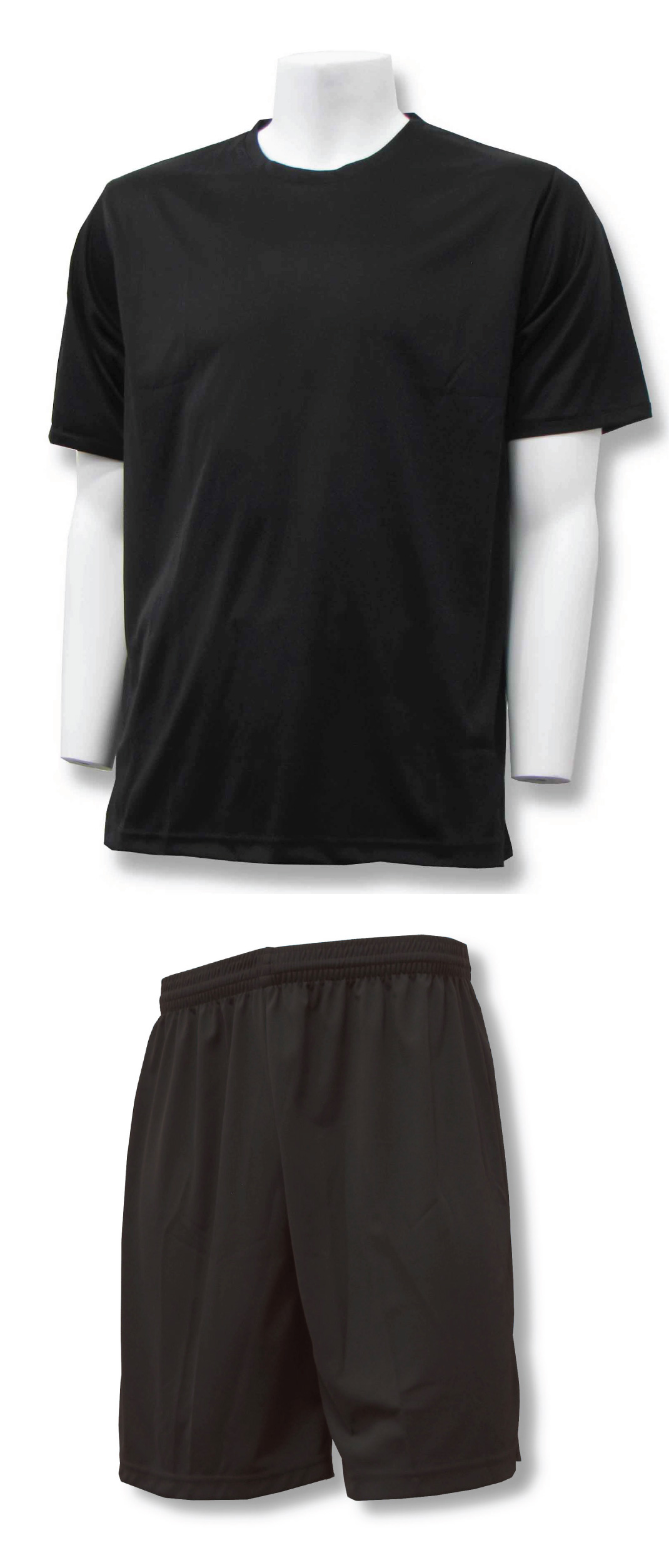Soccer Training Uniform kit in black/black by Code Four Athletics