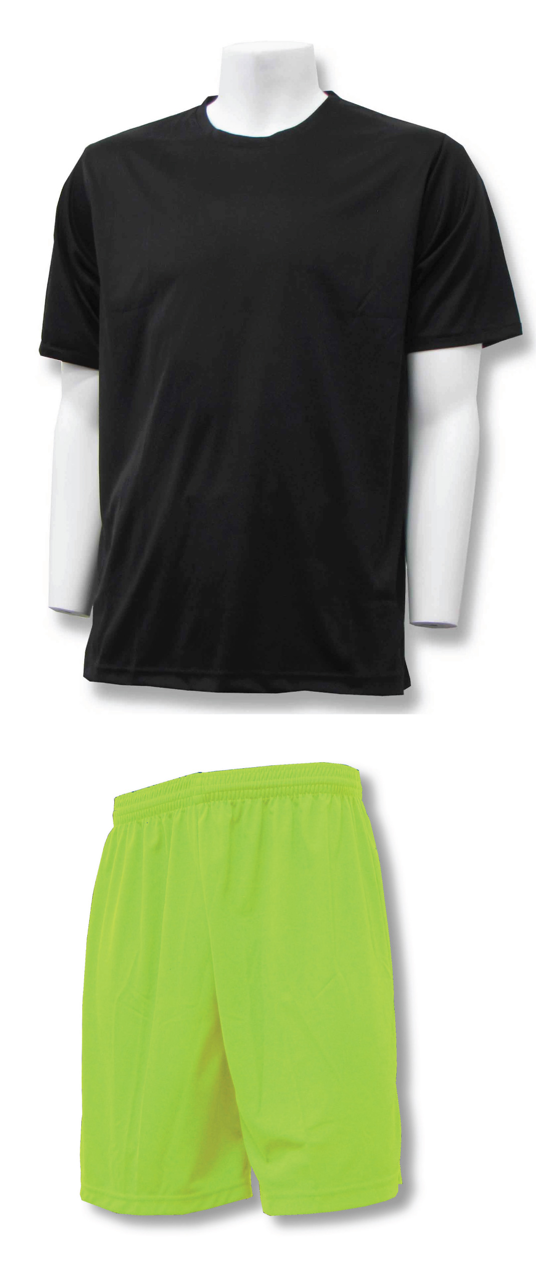Soccer Training Uniform kit in black/lime by Code Four Athletics