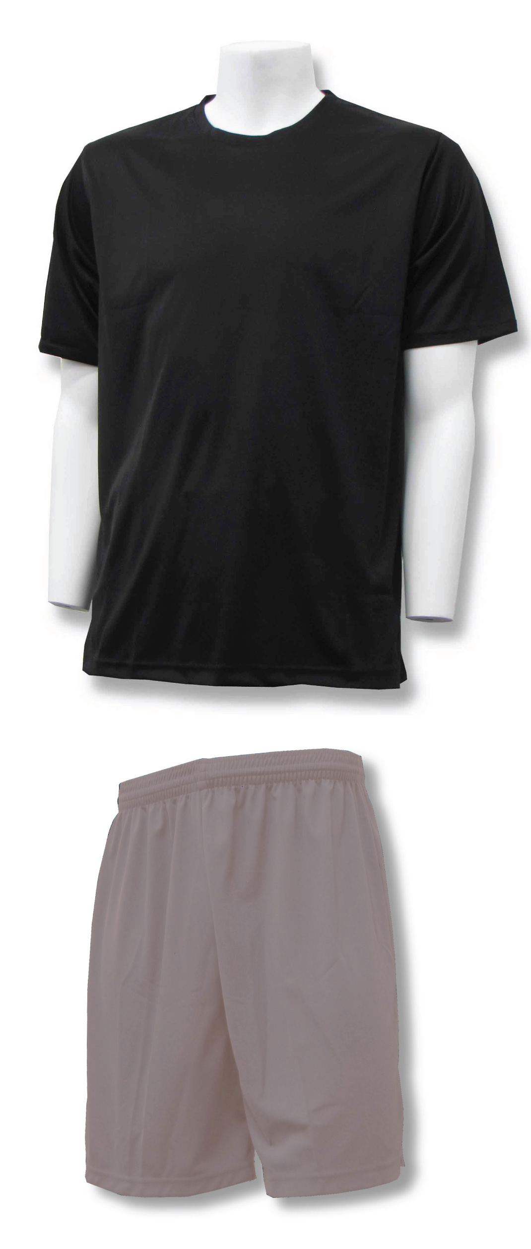 Soccer training uniform kit in black/silver by Code Four Athletics