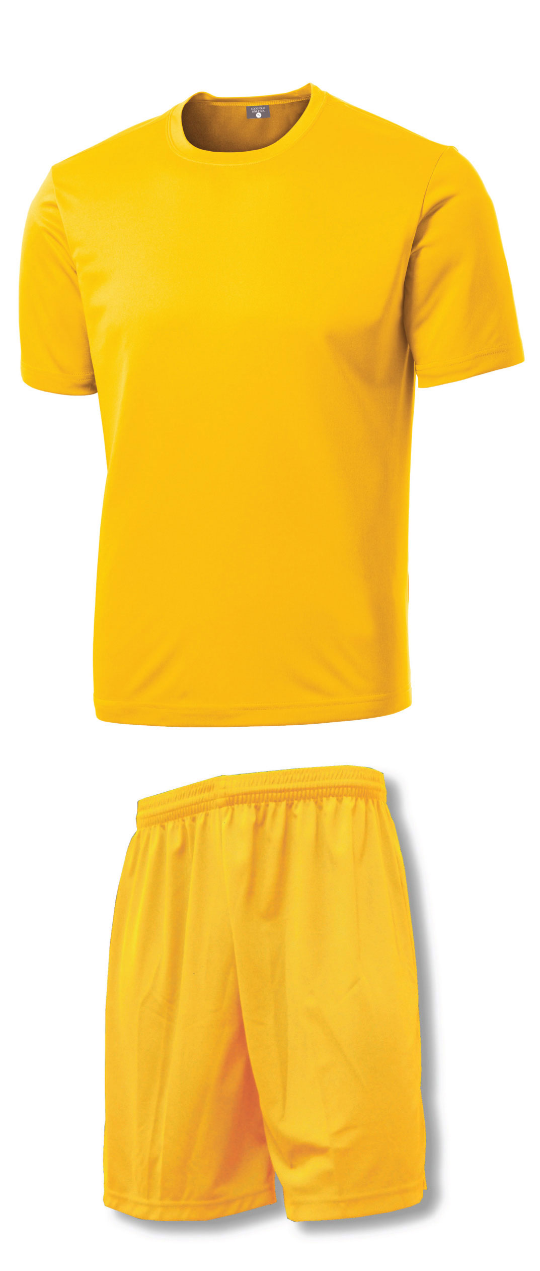 Soccer Training Uniform Kit by Code Four Athletics in gold