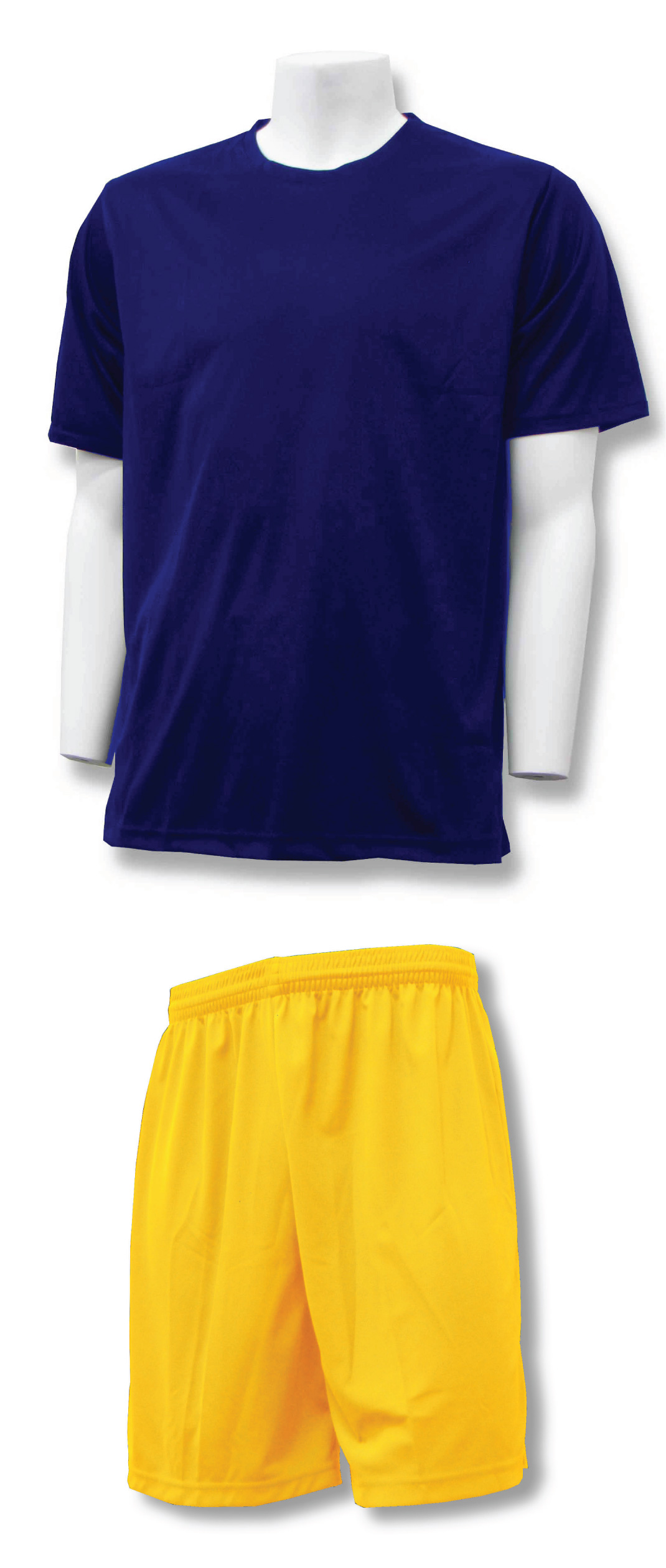 Soccer Training Kit in navy/gold by Code Four Athletics
