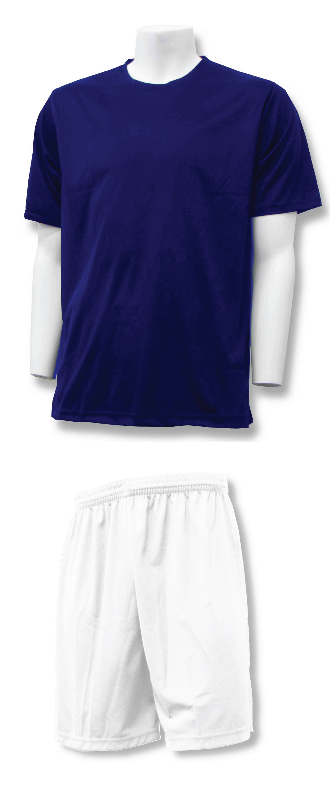 soccer training kit in navy/white by Code Four Athletics