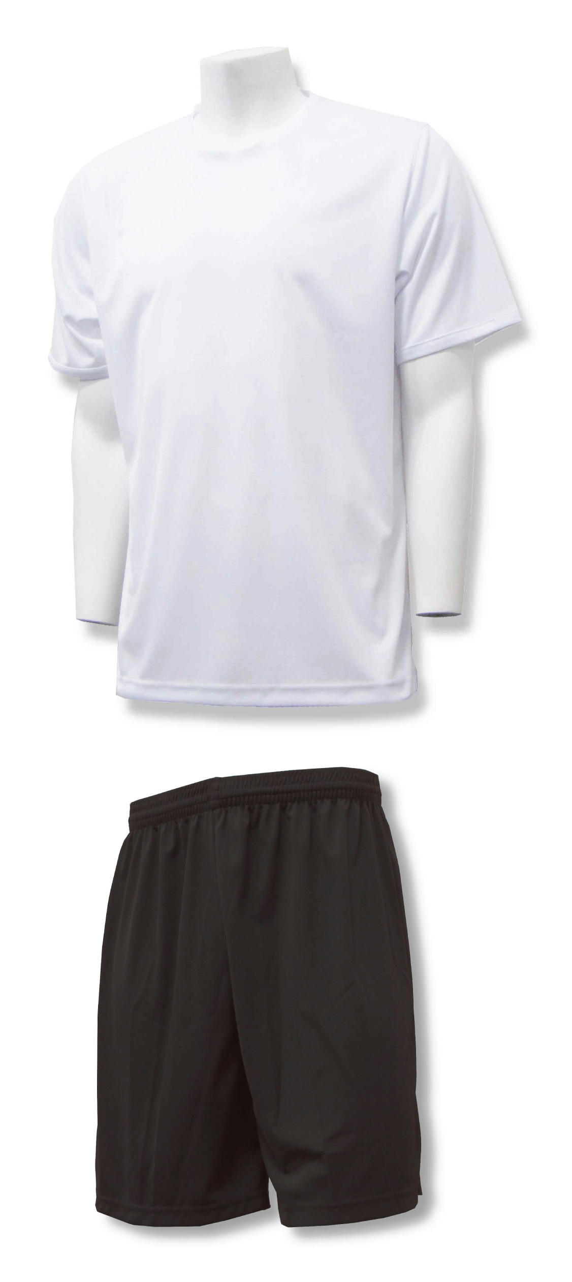 Soccer training uniform kit in white/black by Code Four Athletics