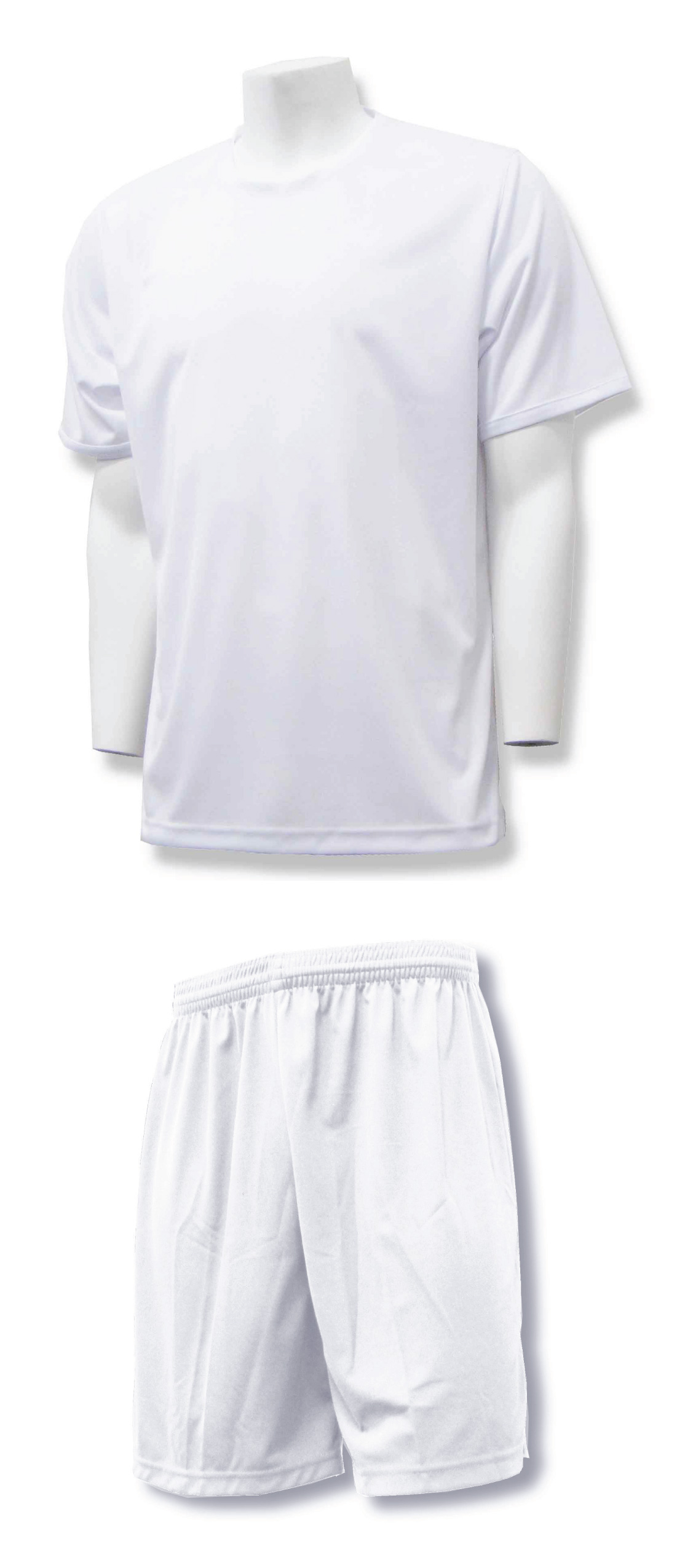 Soccer training kit in white/white by Code Four Athletics