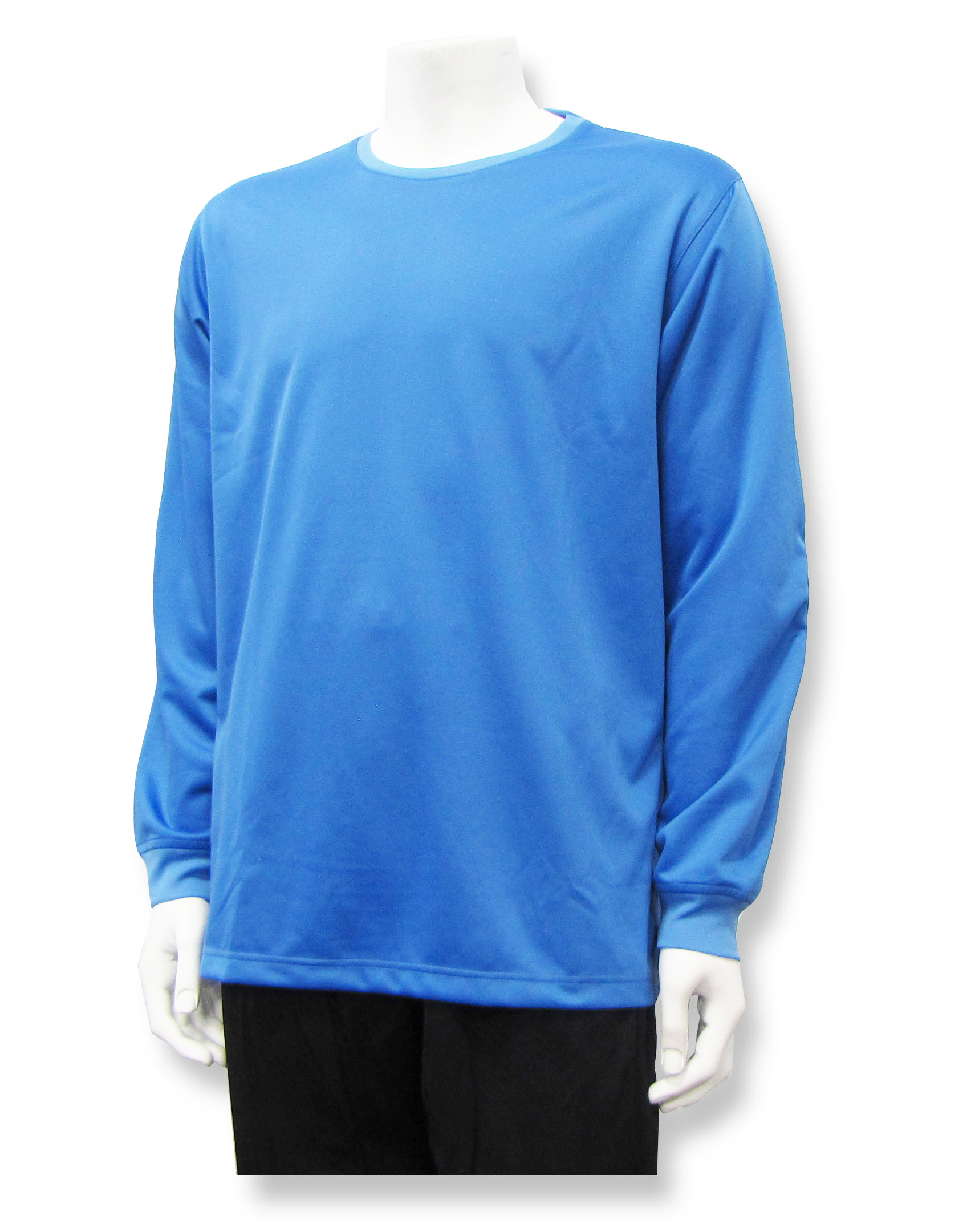 Long sleeve soccer goalie jersey in Columbia Blue by Code Four Athletics