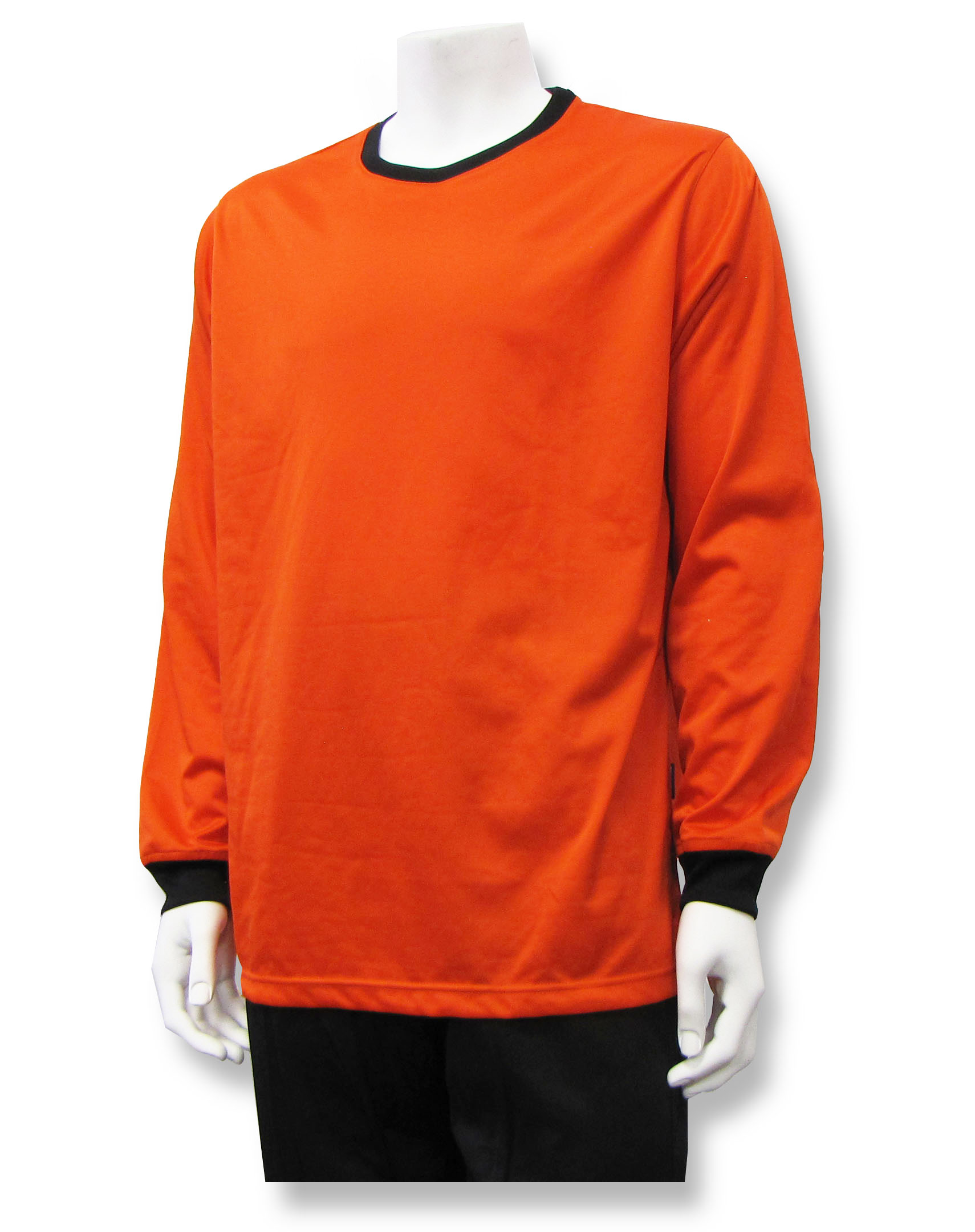 Long sleeve goalie jersey in orange by Code Four Atheltics