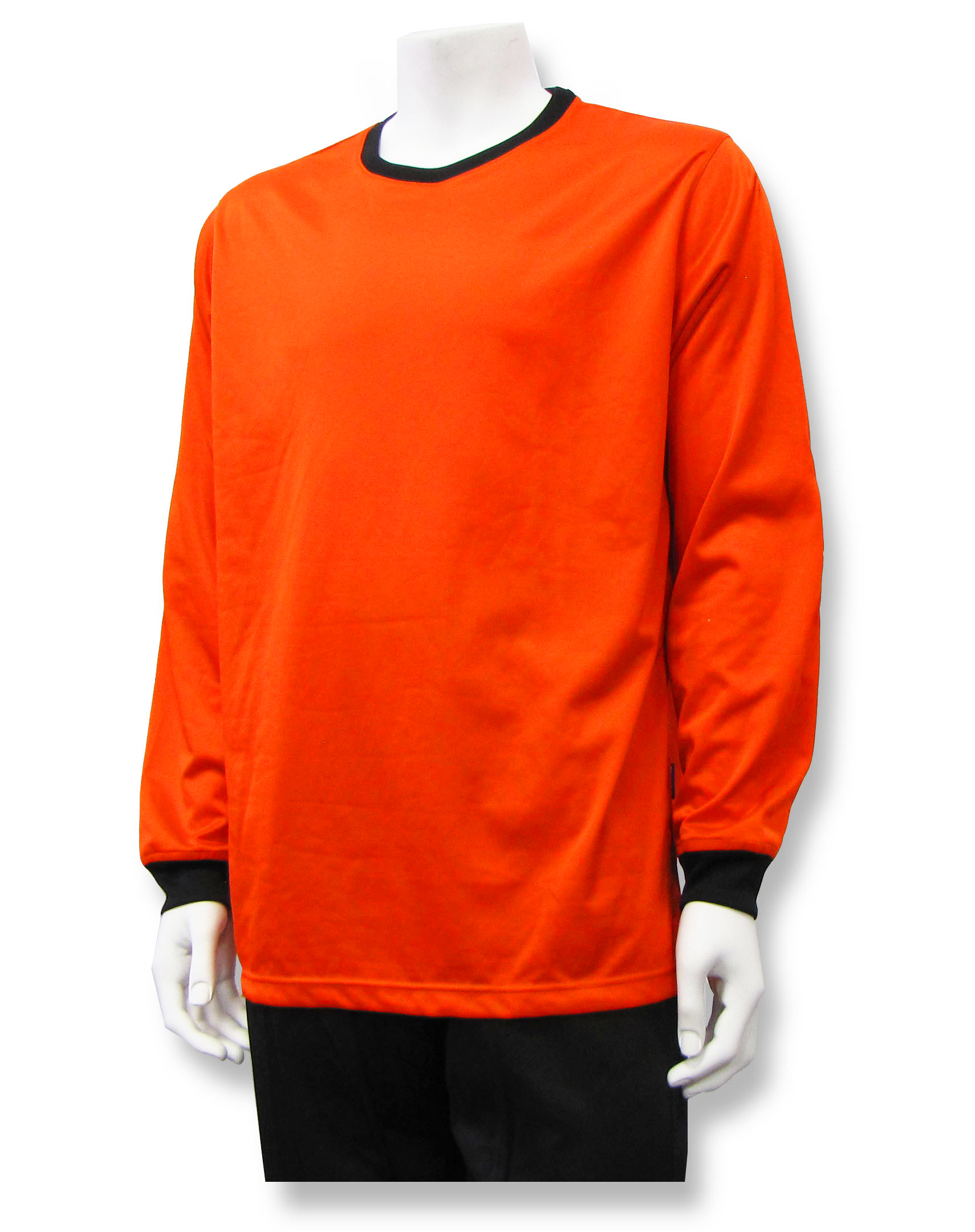 Long sleeve soccer goalie jersey in orange by Code Four Athletics