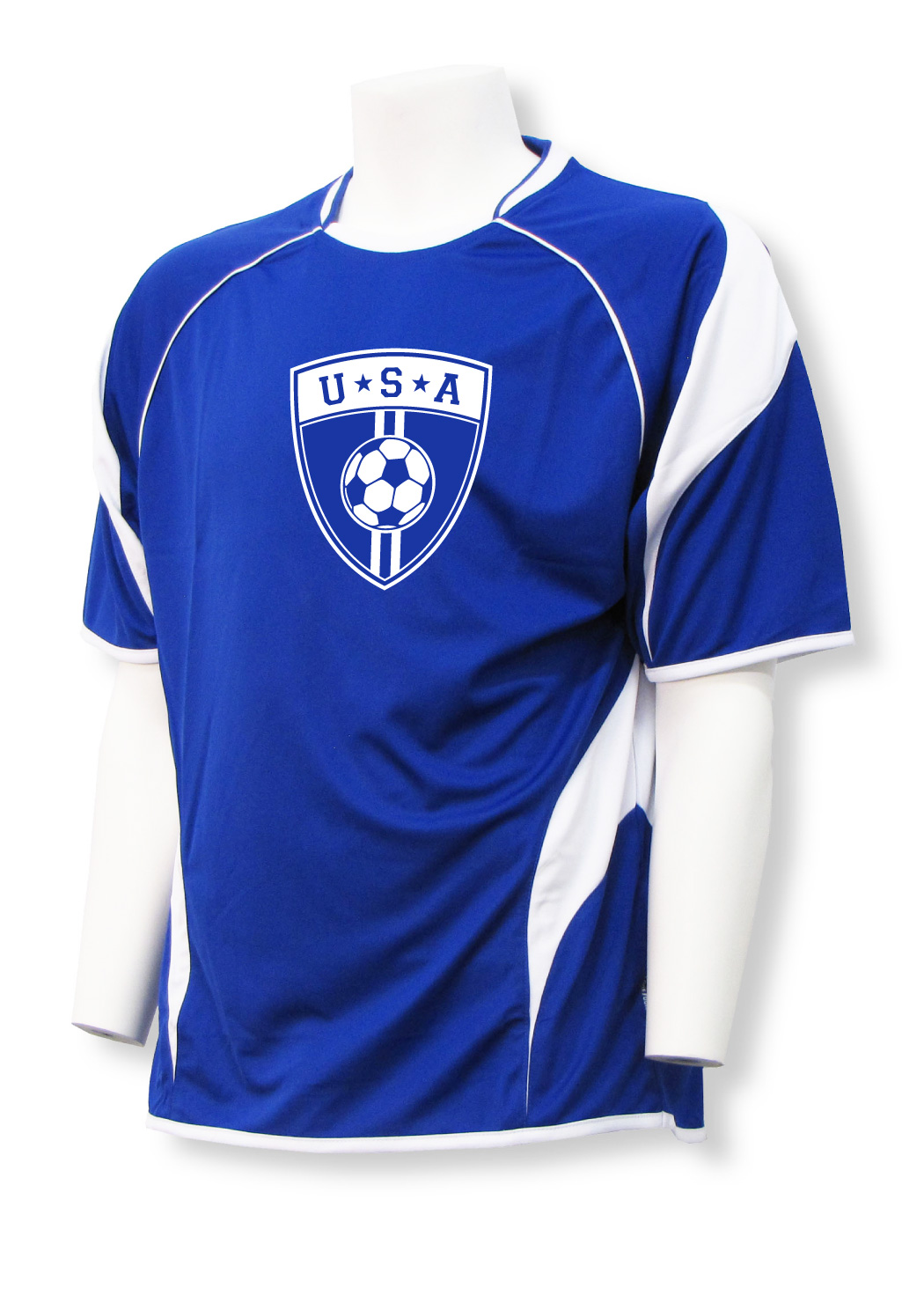 USA Soccer jersey in royal/white