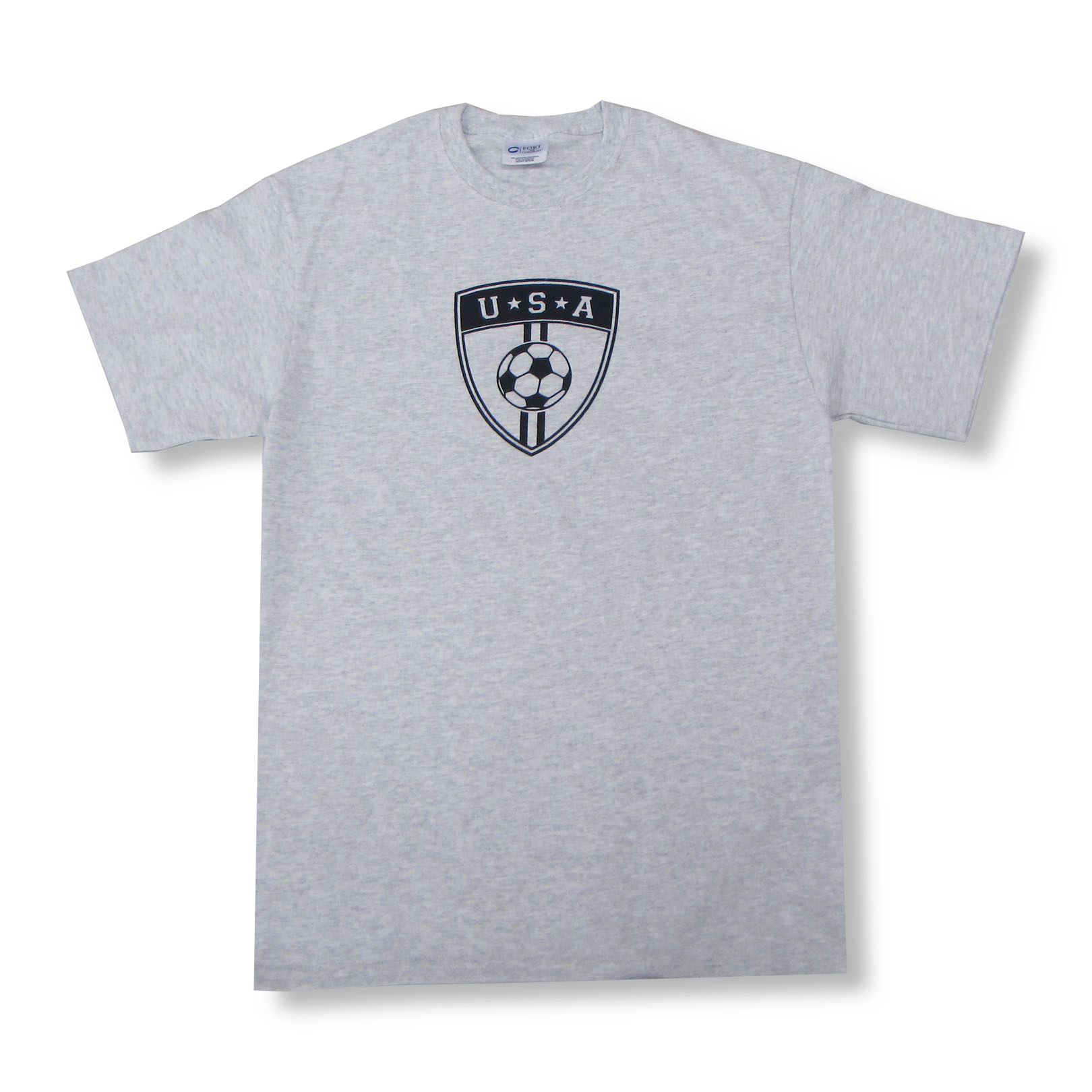 USA soccer T-shirt in ash gray by Code Four Athletics