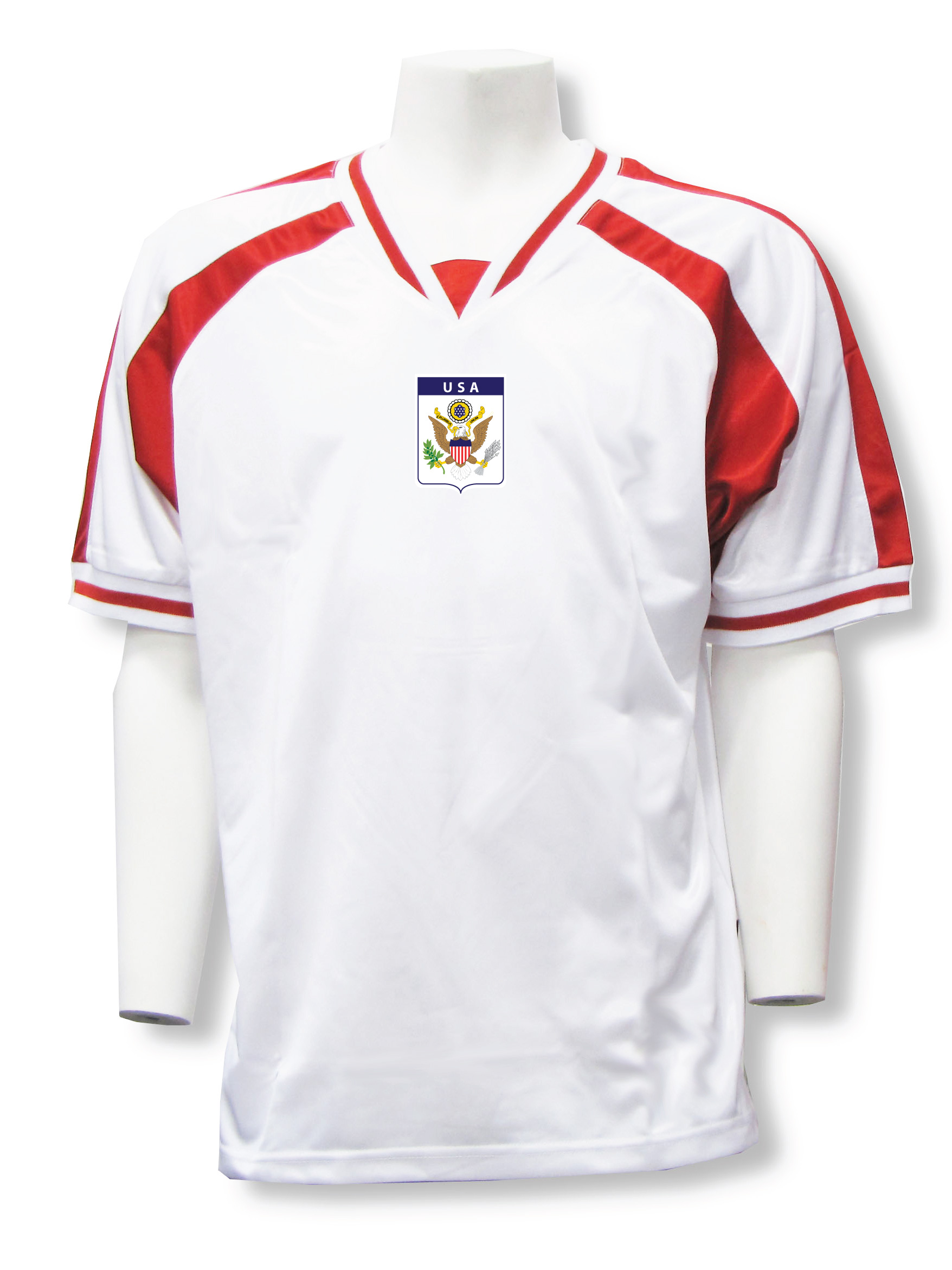 USA soccer jersey in white/red Spitfire