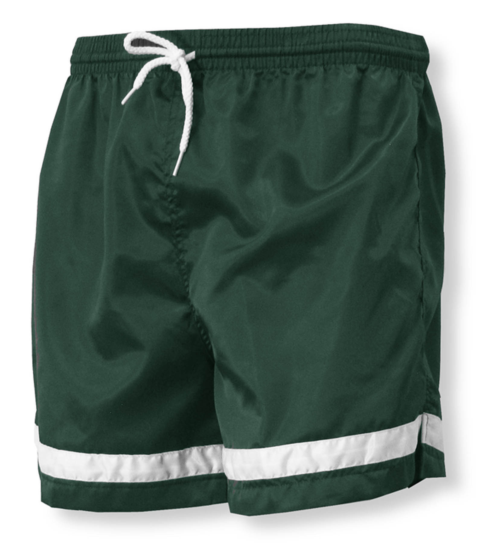 Vashon soccer shorts in forest/white by Code Four Athletics