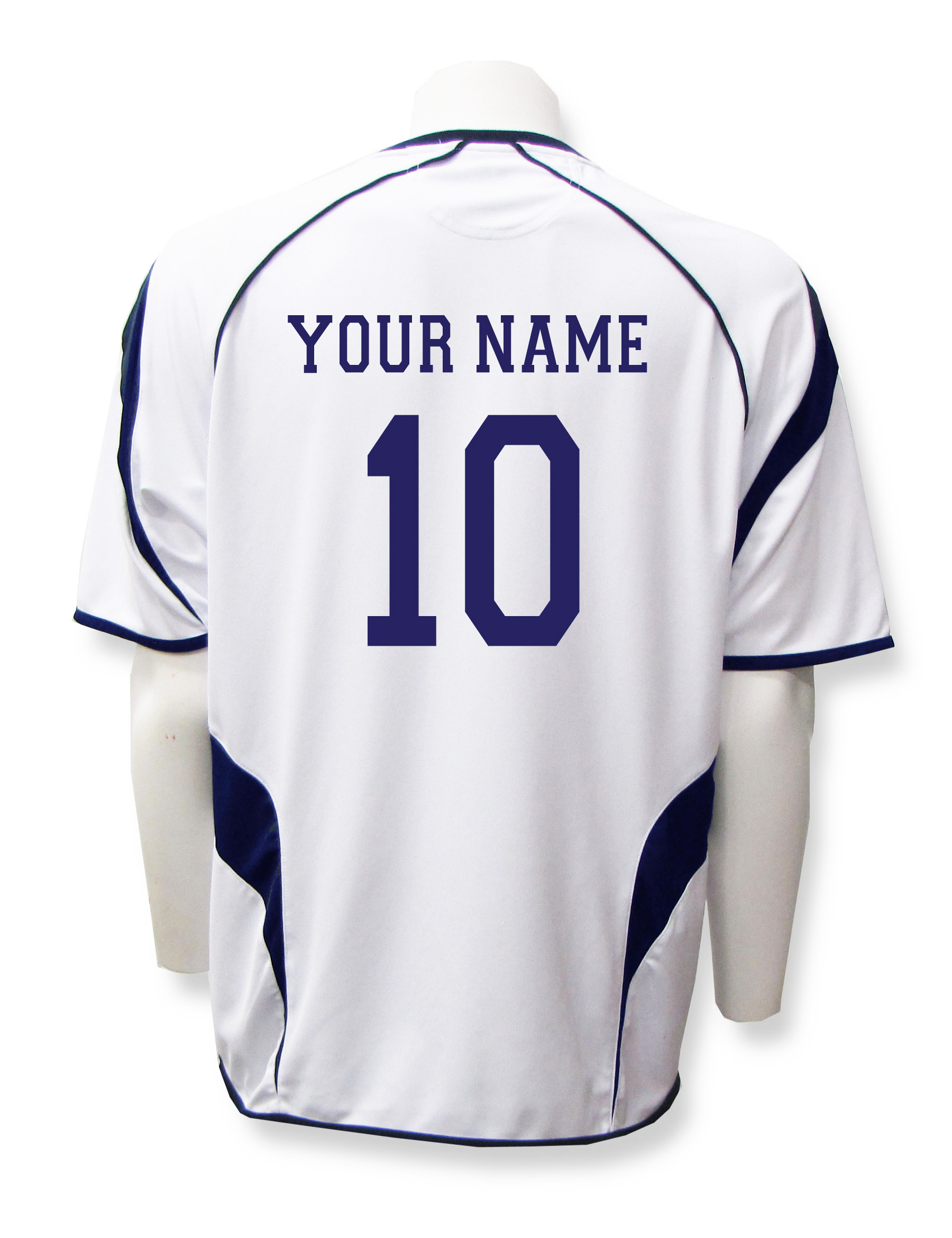 Velocity jersey back your name and number in navy/white